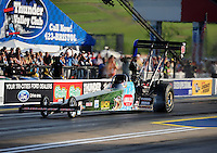 Jun. 17, 2011; Bristol, TN, USA: NHRA top fuel driver Austin Lambright during qualifying for the Thunder Valley Nationals at Bristol Dragway. Mandatory Credit: Mark J. Rebilas-