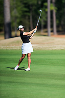 Anna Redding (USA) on the 1st during the second round of the Augusta National Womans Amateur 2019, Champions Retreat, Augusta, Georgia, USA. 04/04/2019.<br /> Picture Fran Caffrey / Golffile.ie<br /> <br /> All photo usage must carry mandatory copyright credit (&copy; Golffile | Fran Caffrey)