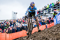 Picture by Alex Whitehead/SWpix.com - 04/02/2018 - Cycling - 2018 UCI Cyclo-Cross World Championships - Valkenburg, The Netherlands - Belgium's Wout van Aert on his way to victory in the Elite Men's race.