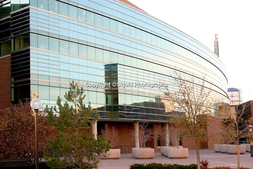 The elite Carlson School of Management on the University of Minnesota Campus, West Bank.  Minneapolis Minnesota USA