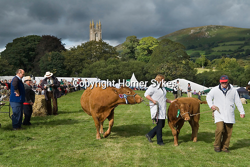 Widecomb Fair Widecombe in the Moor Dartmoor Devon Uk. Prize giving. The church of Saint Pancras.