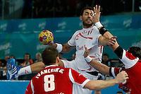 17.01.2013 World Championshio Handball. Match between Spain vs Hungray at the stadium La Caja Magica. The picture show  Daniel Sarmiento Melian (Centre Back of Spain)