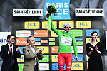 Arnaud Demare (FRA) Groupama-FDJ retains the Green Jersey at the end of Stage 4 of the Paris-Nice 2018 an 18km individual time trial running from La Fouillouse to Saint-Etienne, France. 7th March 2018.<br />
