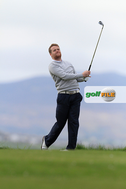Kelan Quigg (City of Derry) during round 1 of The West of Ireland Amateur Open in Co. Sligo Golf Club on Friday 18th April 2014.<br /> Picture:  Thos Caffrey / www.golffile.ie