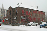 "NAUGATUCK, CT. 31 DECEMBER 30_NEW_123008DA04.jpg- Naugatuck has applied for funding from the federal government to renovate this former factory building on Maple Street downtown. The borough has applied for $1.75 million for the renovations through President-elect Barack Obama's plan to fund ""shovel ready"" projects in an effort to stimulate the economy.  Darlene Douty"