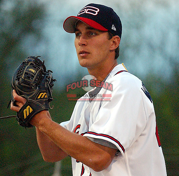 Adam Wainwright of the Greenville Braves, taken April 4-5, 2003, at Greenville Municipal Stadium. Copyright (c) 2003 Tom Priddy. Not to be used in any way without permission. For information contact tom@tompriddy.com.