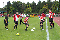 Hornchurch have a pre kick off warm up during AFC Hornchurch vs Soham Town Rangers, Bostik League Division 1 North Football at Hornchurch Stadium on 12th August 2017