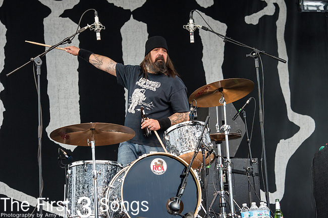 Jimmy Bower of Down performs during the 2014 Rock On The Range festival at Columbus Crew Stadium in Columbus, Ohio.