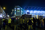 Everton 3 Larissa 1, 25/10/2007. Goodison Park, Europa League Group A. Fans gather outside Goodison Park, Liverpool for the UEFA Cup Group A match between Everton and AE Larissa. Everton beat the Greek team by three goals to one on the opening night of group matches in the UEFA Cup. It was the first meeting between the two clubs. Photo by Colin McPherson.