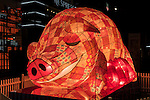 2016 Chinese New Year Celebrations in Sydney, Lunar Lanterns Festival across the city cbd. Year of the Monkey, Sydney, NSW, Australia