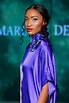Model walks runway in an outfit from the Lady Mariama Design collection by Mariama Onitiri, during Society Fashion Week Spring Summer 2019 in New York City on September 7, 2018.