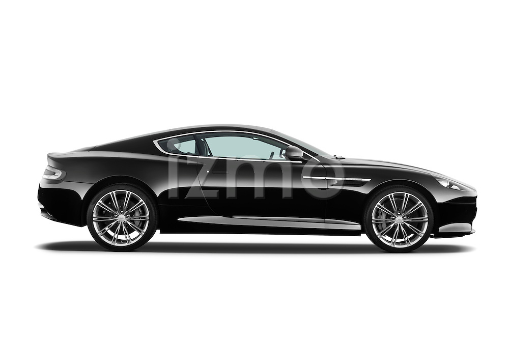 Passenger side profile view of a 2012 Aston Martin Virage.
