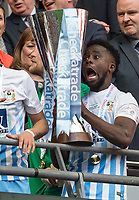 Gael Bigirimana of Coventry City with the Trophy after the The Checkatrade Trophy / EFL Trophy FINAL match between Oxford United and Coventry City at Wembley Stadium, London, England on 2 April 2017. Photo by Andy Rowland.