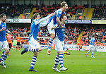 Dundee United v St Johnstone.....04.05.13      SPL.Liam Craig celebrates his goal with Rowan Vine and Murray Davidson..Picture by Graeme Hart..Copyright Perthshire Picture Agency.Tel: 01738 623350  Mobile: 07990 594431