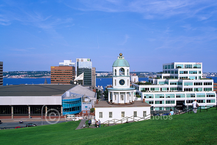 The ?Old Town Clock? (began keeping time in 1803), in Downtown Halifax, Nova Scotia, Canada