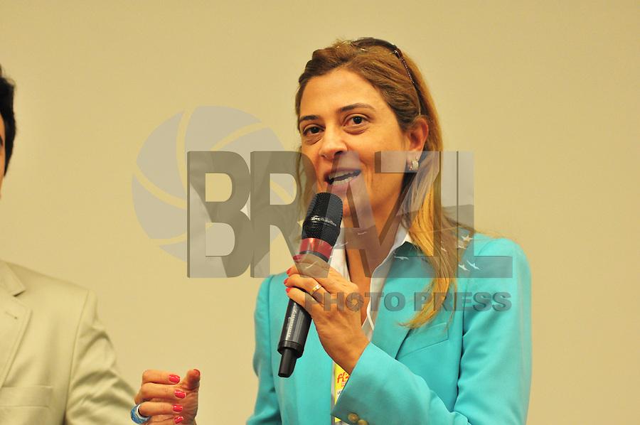 SÃO PAULO,SP, 21.08.2015 - FEIRA ESTUDANTE - Leila Pereira Presidente da FAM Faculdade das Americas durante palestra na Feira do Estudante no Expo Center Norte, zona norte, nesta sexta-feira 21. (Foto: Bruno Ulivieri/Brazil Photo Press)