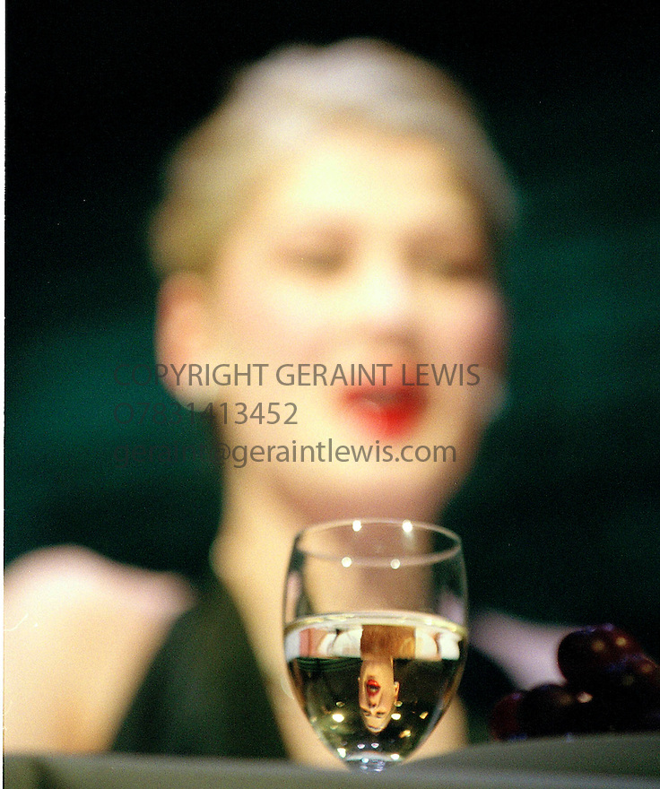 Hitchcock Blond with Rosamund Pike,William Hootkins  written and Directed  by Terry Johnson opens at the Royal Court Theatre on 4/4/03 CREDIT Geraint Lewis