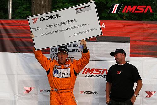 8-10 August 2014, Elkhart Lake, Wisconsin USA<br /> 56, David Baker, Platinum, M, 2014 Porsche wins the Yokohama Hard Charger Award<br /> &copy;2014, Phillip Abbott<br /> LAT Photo USA