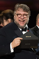 Guillermo del Toro and J. Miles Dale accept the Oscar&reg; for Best motion picture of the year  for work on &ldquo;The Shape of Water&rdquo; during the live ABC Telecast of The 90th Oscars&reg; at the Dolby&reg; Theatre in Hollywood, CA on Sunday, March 4, 2018.<br /> *Editorial Use Only*<br /> CAP/PLF/AMPAS<br /> Supplied by Capital Pictures