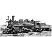 D&amp;RGW #471 K-28 left front view.<br /> D&amp;RGW  Antonito, CO  1941