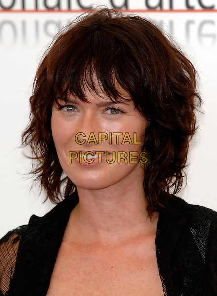 "LENA HEADY.photocall for ""The Bothers Grimm"".62nd International Film Festival,.Venice, 4th September 2005.portrait headshot La Biennale black lace chiffon shirt white top.Ref: PL.www.capitalpictures.com.sales@capitalpictures.com.©Capital Pictures."