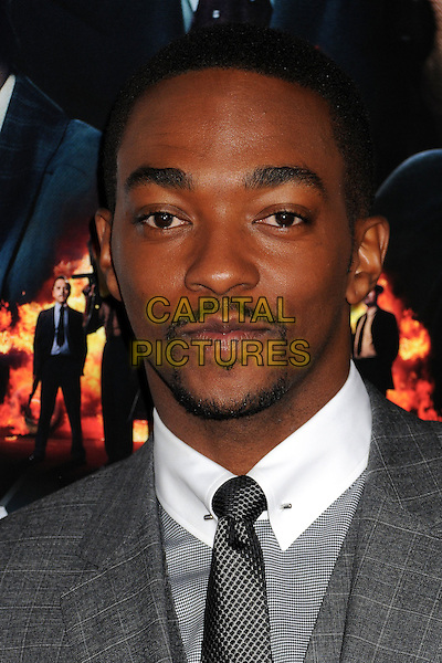 "Anthony Mackie.""Gangster Squad"" Los Angeles Premiere held at Grauman's Chinese Theatre, Hollywood, California, USA..January 7th, 2013.headshot portrait goatee facial hair grey gray suit .CAP/ADM/BP.©Byron Purvis/AdMedia/Capital Pictures."