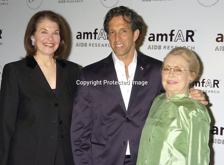 Sherry Lansing, Kenneth Cole and Dr Mathilde Krim ..at The Annual amFar Benefit on November 30, 2004 at ..The Pierre Hotel in New York City. Patti LaBelle, Sumner Redstone and Peter Dolan were honored. ..Photo by Robin Platzer, Twin Images