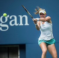 Alison Riske<br /> Tennis - US Open  - Grand Slam -  Flushing Meadows  2013 -  New York - USA - United States of America - Monday 2nd September 2013. <br /> &copy; AMN Images, 8 Cedar Court, Somerset Road, London, SW19 5HU<br /> Tel - +44 7843383012<br /> mfrey@advantagemedianet.com<br /> www.amnimages.photoshelter.com<br /> www.advantagemedianet.com<br /> www.tennishead.net