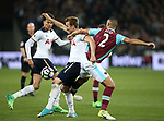 West Ham's Winston Reid tussles with Tottenham's Harry Kane during the Premier League match at the London Stadium, London. Picture date: May 5th, 2017. Pic credit should read: David Klein/Sportimage