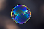 USA, California, San Diego, Floating colorful bubble.