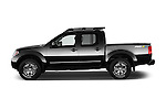 Car Driver side profile view of a 2016 Nissan Frontier PRO-4X-Crew-Cab 4 Door Pickup Side View