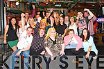 Chloe Hennessy from Strand Road celebrating her 21st with family and friends at the Huddle Bar on Saturday