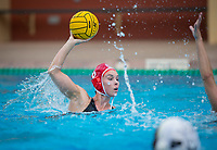Stanford, CA - March 8, 2020: Hannah Shabb at Avery Aquatic Center. The No. 2 Stanford Women's Water Polo team beat the No. 6 Arizona State Sun Devils 9-8.