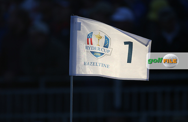 Pin flag on the first during the Saturday Morning Foursomes, at the 41st Ryder Cup 2016, at Hazeltine National Golf Club, Minnesota, USA.  01View of the 10th2016. Picture: David Lloyd | Golffile.