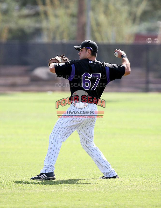 James Cesario / Colorado Rockies 2008 Instructional League..Photo by:  Bill Mitchell/Four Seam Images