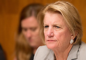 United States Senator Shelley Moore Capito (Republican of West Virginia), Chairman, US Senate Committee on Appropriations Subcommittee on Financial Services and General Government, listens during the hearing to  examine proposed budget estimates and justification for the fiscal year 2018 Federal Communications Commission budget request on Capitol Hill in Washington, DC on Tuesday, June 20, 2017.<br /> Credit: Ron Sachs / CNP