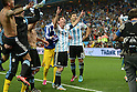 Lionel Messi, Sergio Aguero (ARG),<br /> JULY 9, 2014 - Football / Soccer : Lionel Messi (10) and Sergio Aguero (20) of Argentina celebrate after winning the FIFA World Cup 2014 semi-finals match between Netherlands and Argentina at Arena de Sao Paulo in Sao Paulo Brazil.<br /> (Photo by FAR EAST PRESS/AFLO)