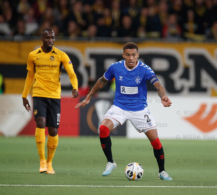 03.10.2019 Young Boys of Bern v Rangers: James Tavernier