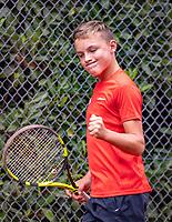 Hilversum, Netherlands, August 8, 2018, National Junior Championships, NJK, Kyvan Rietkerk (NED)<br /> Photo: Tennisimages/Henk Koster