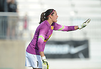 Boyds MD - April 13, 2014: Lydia Williams (1) of the Western New York Flash. The Western New York Flash defeated the Washington Spirit 3-1 in the opening game of the 2014 season of the National Women's Soccer League at the Maryland SoccerPlex.