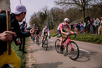 Kelly Van Den Steen (BEL/Lotto-Soudal)<br /> <br /> 8th Gent-Wevelgem In Flanders Fields 2019 <br /> Elite Womens Race (1.WWT)<br /> <br /> One day race from Ypres (Ieper) to Wevelgem (137km)<br /> ©JojoHarper for Kramon