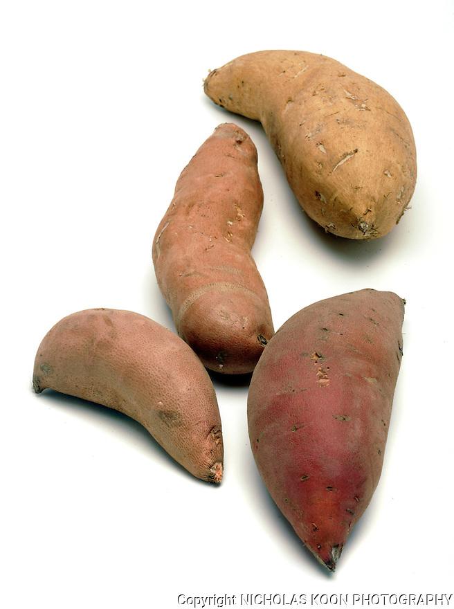 Sweet Potatoes still life.