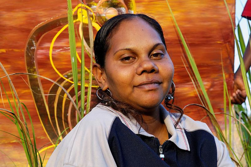Fiona Omeenyo, artist, Lockhart River, Cape York Peninsula.