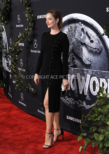 WWW.ACEPIXS.COM<br /> <br /> June 9 2015, LA<br /> <br /> Judy Greer arriving at the world premiere of 'Jurassic World' at the Dolby Theatre on June 9, 2015 in Hollywood, California. <br /> <br /> <br /> By Line: Peter West/ACE Pictures<br /> <br /> <br /> ACE Pictures, Inc.<br /> tel: 646 769 0430<br /> Email: info@acepixs.com<br /> www.acepixs.com