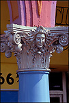 Painted column at Venice, Ca modeled after columns in Venice, Italy circa 1982