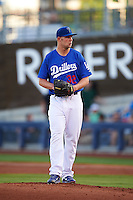 Tulsa Drillers pitcher Chris Anderson (32) gets ready to deliver a pitch during a game against the Midland RockHounds on June 2, 2015 at Oneok Field in Tulsa, Oklahoma.  Midland defeated Tulsa 6-5.  (Mike Janes/Four Seam Images)