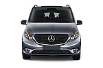 Car photography straight front view of a 2016 Mercedes Benz Metris Passenger-Van 5 Door Passenger Van Front View