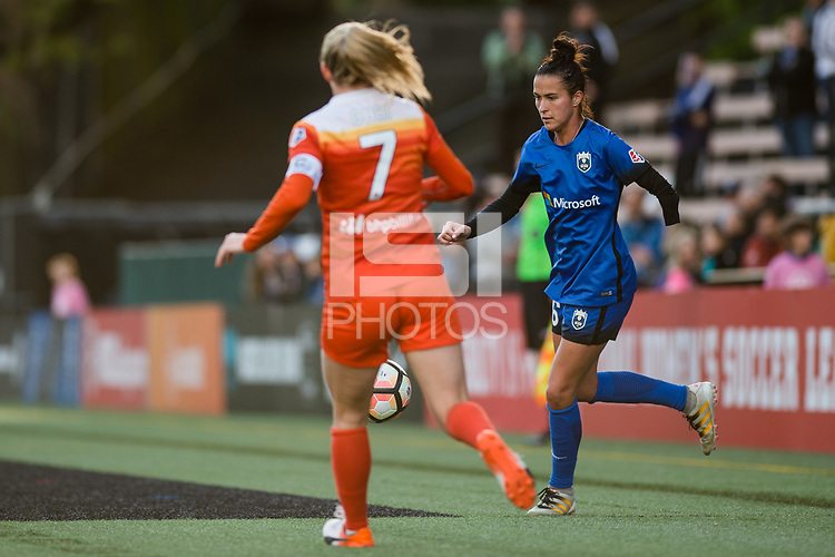 Seattle, Washington -  Saturday April 22, 2017: Carson Pickett during a regular season National Women's Soccer League (NWSL) match between the Seattle Reign FC and the Houston Dash at Memorial Stadium.