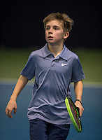 Hilversum, Netherlands, December 4, 2016, Winter Youth Circuit Masters, Manvydas Baldunes (NED)<br /> Photo: Tennisimages/Henk Koster
