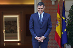 The President of the Government of Spain, Pedro Sanchez, celebrates a working lunch with the elected president of the European Commission, Ursula von der Leyen, in the Palace of La Moncloa. July 31,2019. (ALTERPHOTOS/Acero)
